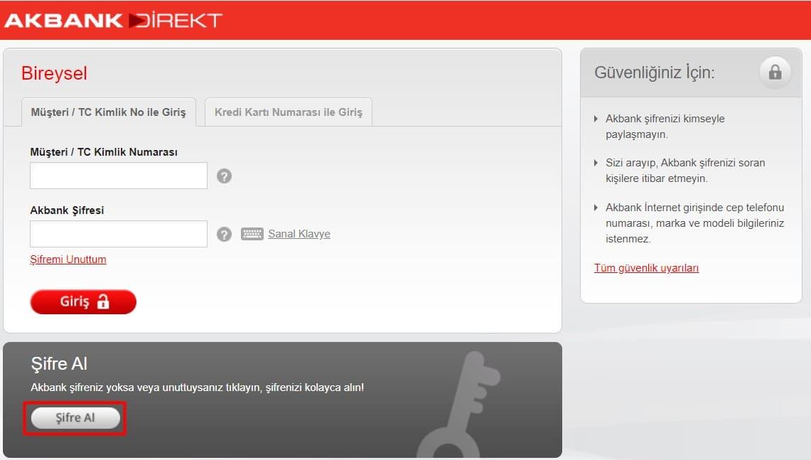 akbank internet bankacılığı açma